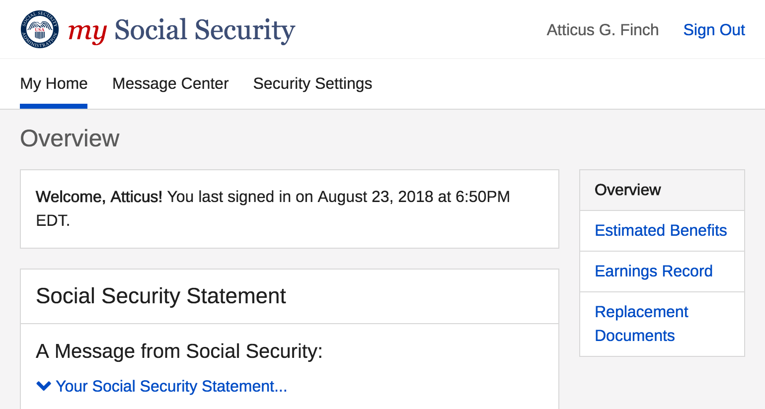 How To Create Your Online Social Security Account